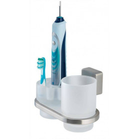 Tiger Impuls glass/ electric toothbrush holder, matte, chrome