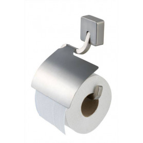 Tiger Impuls toilet paper holder with cover, matte, chrome