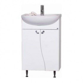Raguvos Baldai Elza bathroom vanity unit with washbasin EA50-3 50cm, white