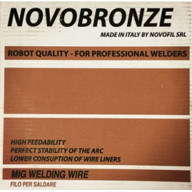 Novofil Srl non-alloy steel welding wire Novofil 1.0mm G3Si1, 15kg Bronze (price for 1kg)