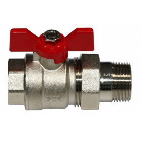 Ibp Conex ball valve 1/2 FM, with connection nut, butterfly handle
