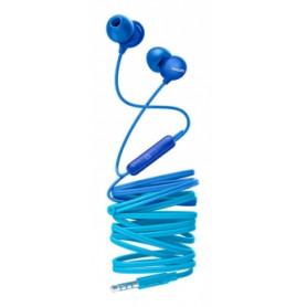 Philips headphones SHE2405BL/00, with microphone, blue