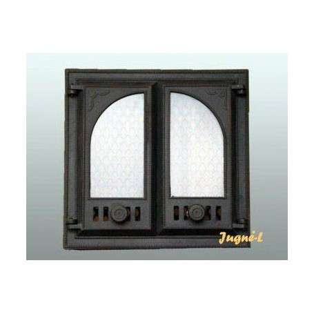 Jugne L Cast Iron Fireplace Door Z 4 480x480 With Simple Glass