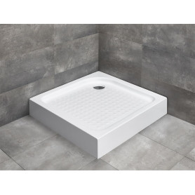 Radaway Rodos C Compact 80x80 rectangle shower tray, acrylic, 4K88155-04