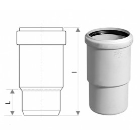 MagnaPlast DB noise-reducing sewage pipe adapter HT 50