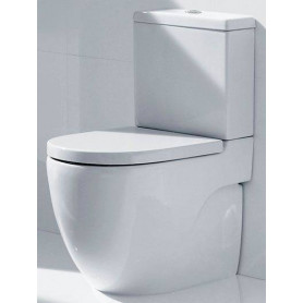 Roca Meridian Compact WC toilet bowl, universal outlet, white
