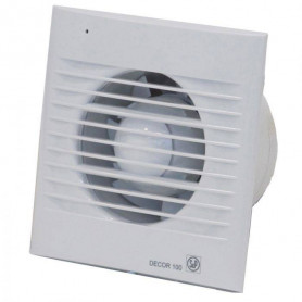 S&P ventilation fan Decor 100 CHZ, with humidity sensor, time relay and bearing motor