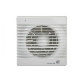 S&P ventilation fan Decor 200 CHZ, with humidity sensor, time relay and bearing motor