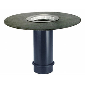 HL65H roof rainwater trap telescopic extension, with insulation