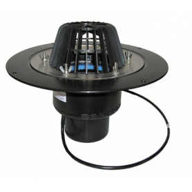 HL62.1/5 vertical roof rainwater trap DN160, with heating