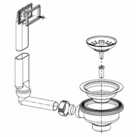Franke outlet valve 3 1/2 with accessory kit, 112.0006.341