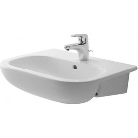 Duravit D-Code partly build in washbasin 55x44 cm 0339550000