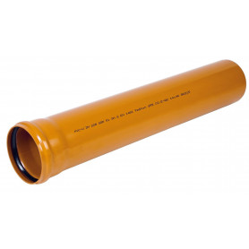 Ostendorf PVC outdoor sewage pipe DN200 x 1000 SN4, with sleeve