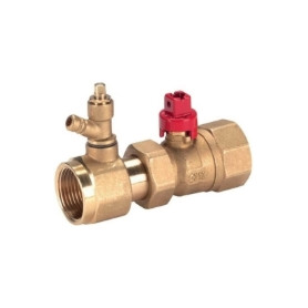 Herz valve 1'' FF, with outlet, sealable, 1990283