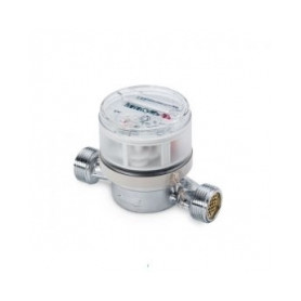 Zenner water counter DN15, 80mm, hot water, for apartment, without connection nuts