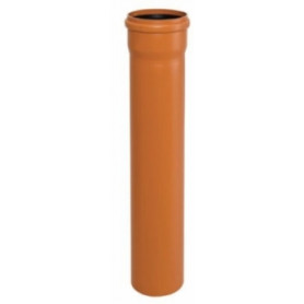 Armakan PVC KG outdoor sewage pipe DN 160x4.7/500 SN8, with sleeve