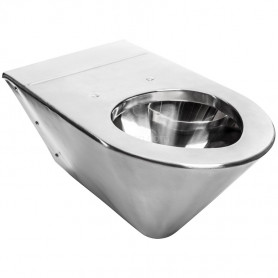 Faneco L650754 wall-mounted toilet for disabled people, hanging stainless steel, satin