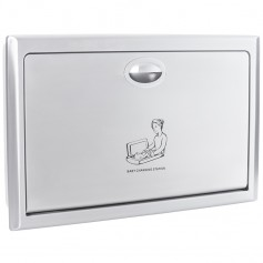 Faneco FBCTXSH hanging folding baby changing station, wall-mounted stainless steel, satin, polyethylene