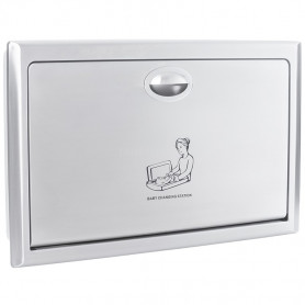 Faneco FBCTXIH hanging folding baby changing station, recessed stainless steel, satin, polyethylene