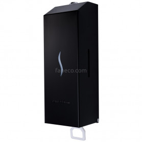 Faneco SA1002SJBL HIT black soap and disinfectant dispenser, 1000 ml stainless steel, powder coated