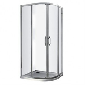 Vento round shower corner Tivoli 800x800x1850, dark gray glass, 6mm, R550, without shower tray