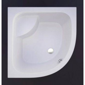 Vispool deep shower tray RD-90, white 900x900x510