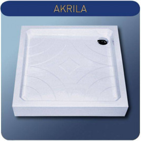 Roltechnik square shower tray Cola P80, white
