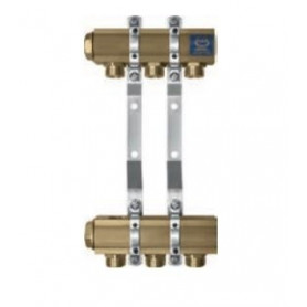 Kan-therm 4-outlet heated floor manifold 1, with eurocone nipples G3/4