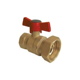 Herz pump ball valve 1x1 1/2, with connection nut, 463010