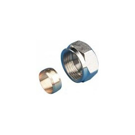Herz screw-on Eurocone connector, for CU pipe D15mm M22