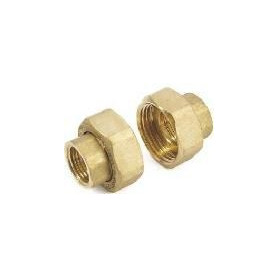 GF pump connection nuts FF 1/2x1, bronze, pair, 113286