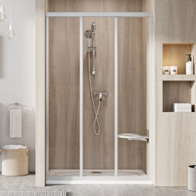 Ravak Shower door ASDP3-120 satin+glass Transparent, 00VG0U02Z1