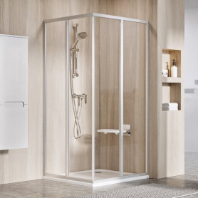 Ravak Shower corner SRV2-75 S satin+glass Transparent, 14V30U02Z1