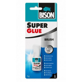 Bison līme SUPER GLUE WITH BRUSH (5g), 6301789