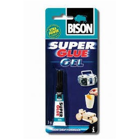 Bison līme SUPER GLUE GEL (2g karte), 6304814