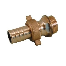 Rastelli brass connection M 1/2x15mm, with connection nut