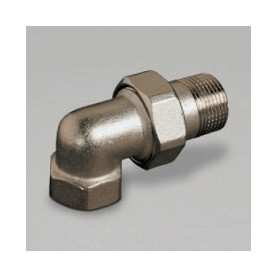 Luxor brass connection nut RC480 1, angular, nickel plated