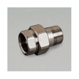 Luxor brass connection nut RD482 1, straight, nickel plated