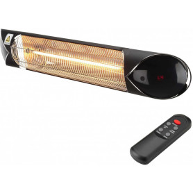 Heat 1 infrared heater CARBON BLACK 2000, with adjustable power/ carbon fiber heating element, remote control