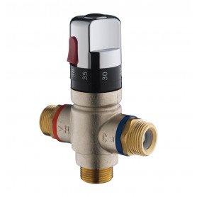 "Presto 29003 SAFETY THERMOSTATIC MIXING VALVE WITH INTERNAL TEMPERATURE LIMITER 3/4"" INLET AND OUTLET"