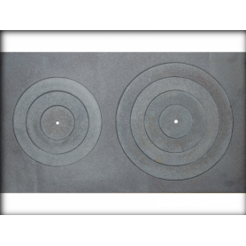 Jugne-L cast iron stove surface B-1, 700*330mm, with rings