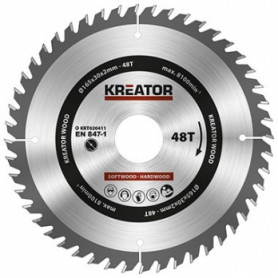 Kreator KRT020411 saw wheel, Ø165x30x2mm, for wood, 48 teeth