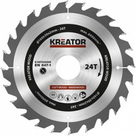 Kreator KRT020408 saw wheel, Ø160x30x2mm, for wood, 24 teeth