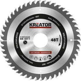 Kreator KRT020409 saw wheel, Ø160x30x2mm, for wood, 48 teeth
