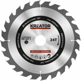 Kreator KRT020420 saw wheel, Ø210x30x2.2mm, for wood, 24 teeth