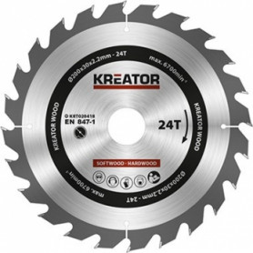 Kreator KRT020418 saw wheel, Ø200x30x2.2mm, for wood, 24 teeth