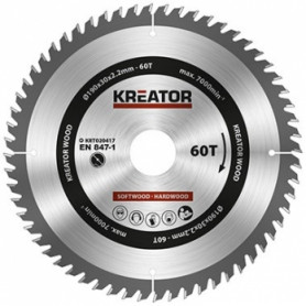 Kreator KRT020417 saw wheel, Ø190x30x2.2mm, for wood, 60 teeth
