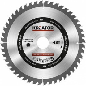 Kreator KRT020421 saw wheel, Ø210x30x2.2mm, for wood, 48 teeth