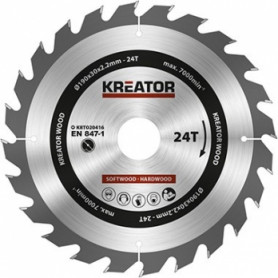 Kreator KRT020416 saw wheel, Ø190x30x2.2mm, for wood, 24 teeth