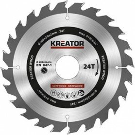 Kreator KRT020410 saw wheel, Ø165x30x2mm, for wood, 24 teeth